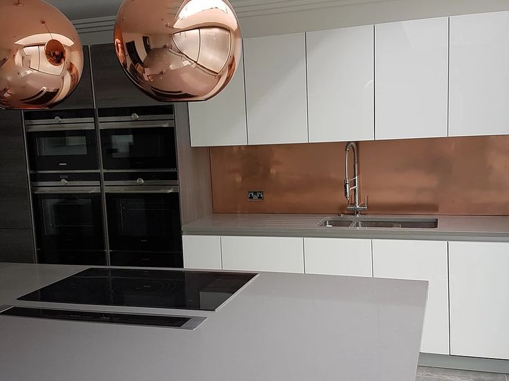 die besten 25 copper splashback ideen auf pinterest. Black Bedroom Furniture Sets. Home Design Ideas