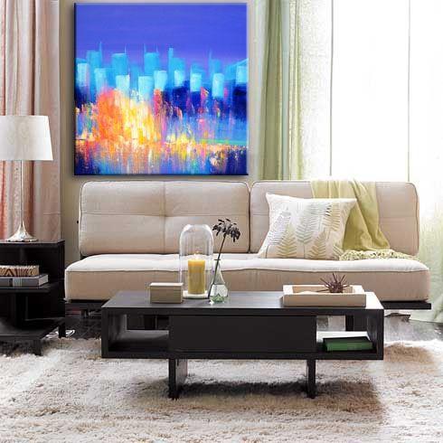 MANHATTAN 1 [YH_001] - $379.00   United Artworks   Original art for interior design, buy original paintings online