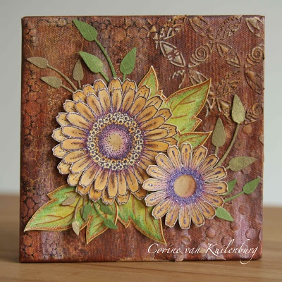 Corine's Gallery: Mixed Media with Chocolate Baroque stamps