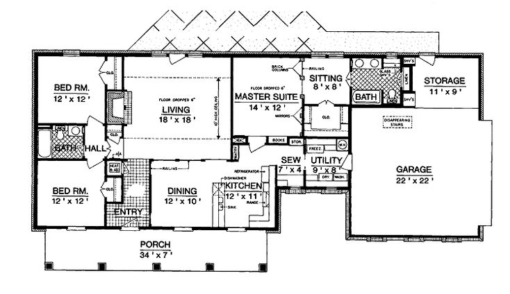 Split bedroom floor plans 1600 square feet add to cart Split bedroom ranch house plans