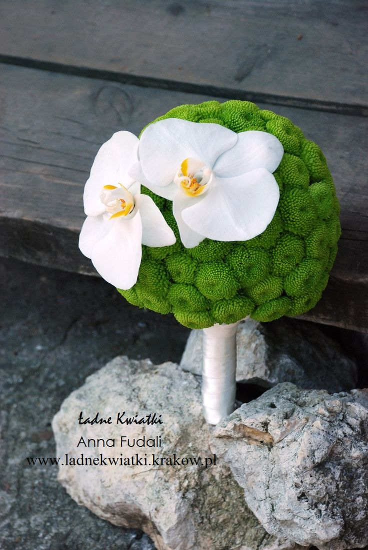 green ball and butterfly orchids