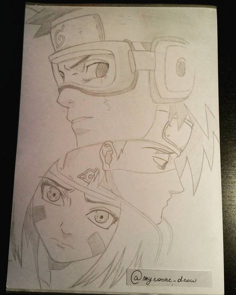 Drawing Naruto -ObitoKakashi and Rin. #myronne_draw #naruto #obito #uchiha…