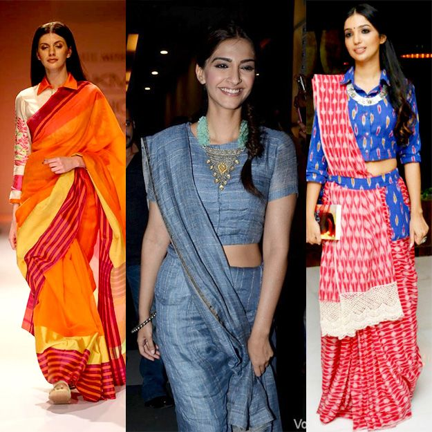 crop top & sari - Google Search