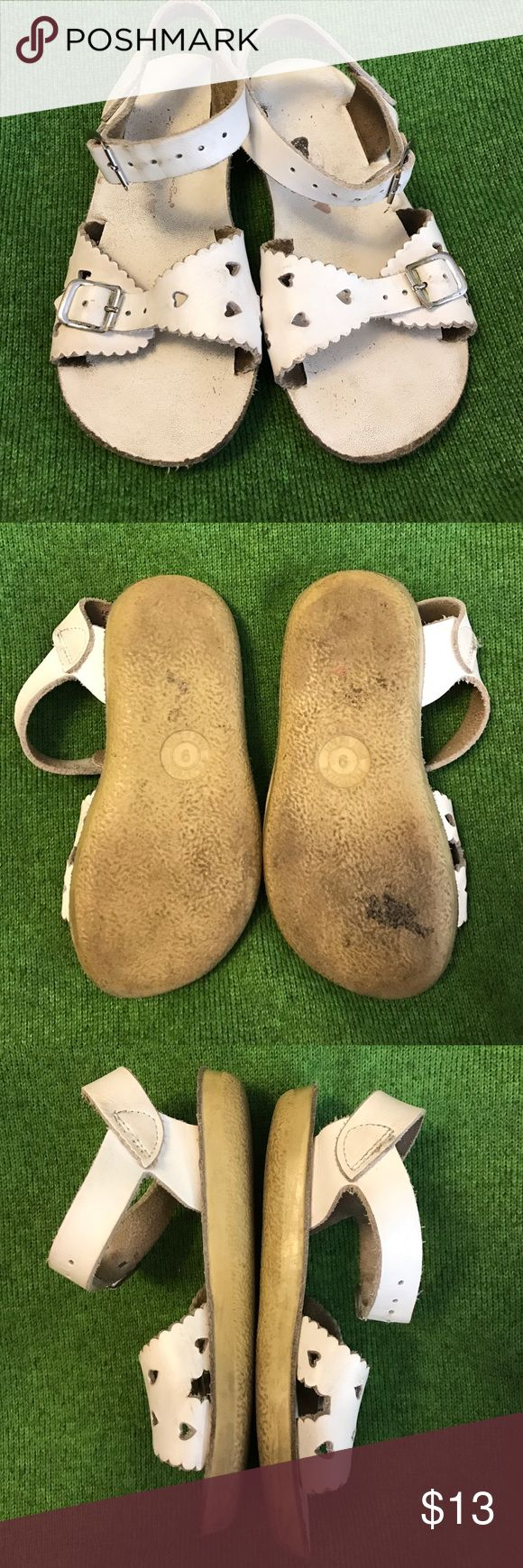 Salt Water Sun Sand white sweetheart sandals Salt water sun sand sandals. Sweetheart style size 9. Loved but lots of life left. Need a little clean and good to go. Salt Water Sandals by Hoy Shoes Sandals & Flip Flops