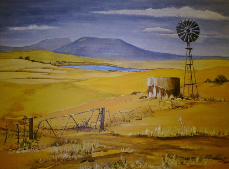 Oos-Vrystaat near Clocolan. My first acrylic painting! Martie Smit