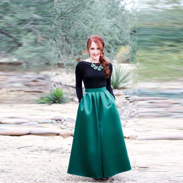 Cheap skirt fringe, Buy Quality skirt cotton directly from China skirts boots Suppliers: Modest Green Satin Skirt Custom Made Zipper Waistline A Line Floor Length Full Maxi Skirt Simple Style Women Skirts