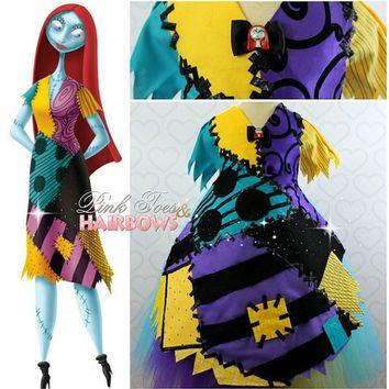Sally Skellington Tutu Dress- Sally Skellington dress- Sally Skellington Costume -Sally Skellington Tutu- Nightmare Before Christmas