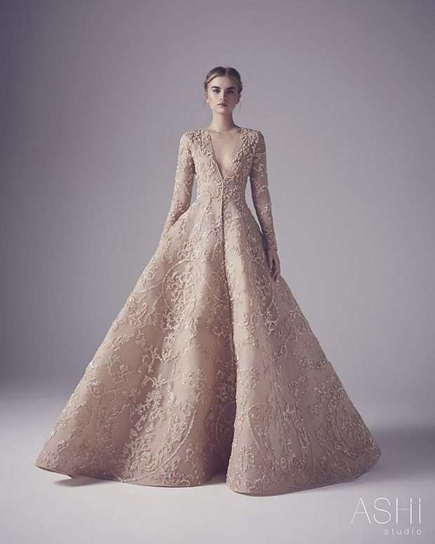 Ashi Studio Couture wedding dresses 2016 - textured couture wedding gown - see the rest of the collection on www.onefabday.com