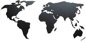 Ozdoba ścienna w kształcie magnetycznej mapy świata. Wszystkie kontynenty w zasięgu Twojej ręki! Idealna ozdoba do oznaczenia, gdzie już byłeś lubjakie są Twojecele podróży. Ozdoba ścienna, przedsta ...