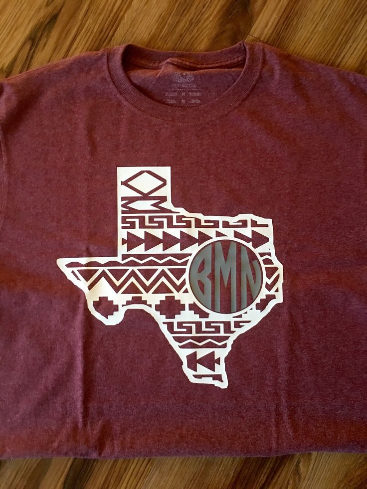 A personal favorite from my Etsy shop https://www.etsy.com/listing/263378455/texas-aztec-monogrammed-tshirt