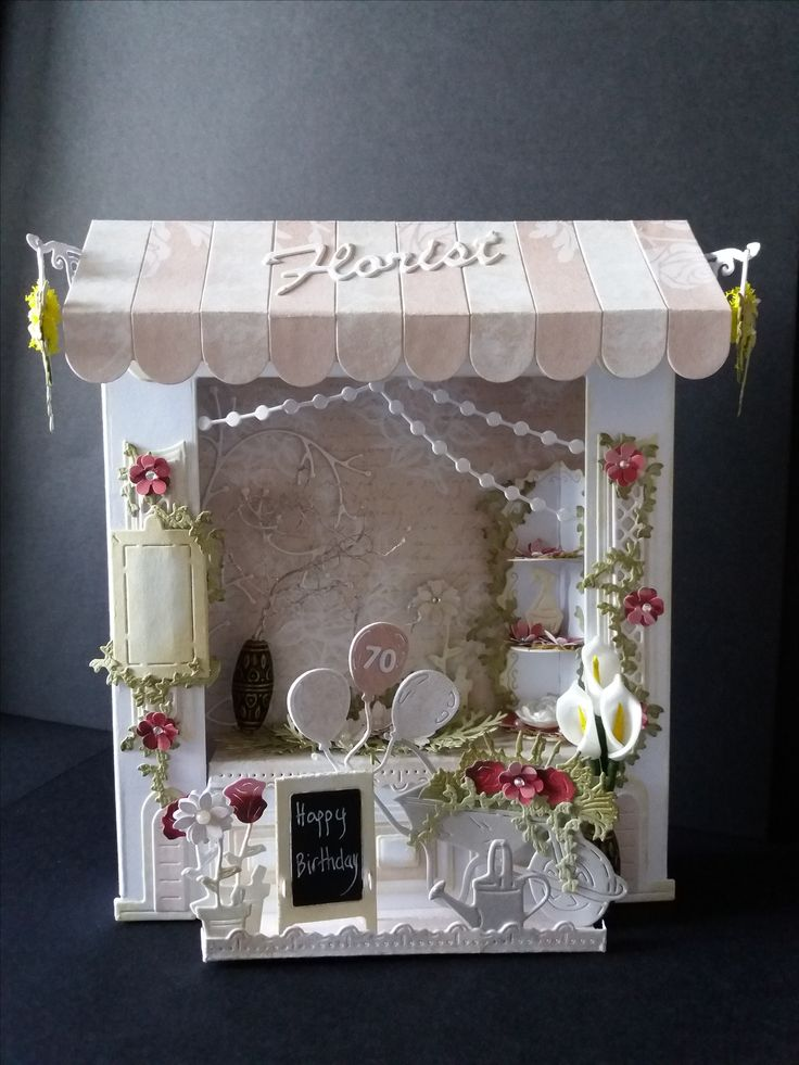 Tattered Lace Retail Therapy Dies, made as a 70th birthday 'card', the hanging chalkboard was later personalised
