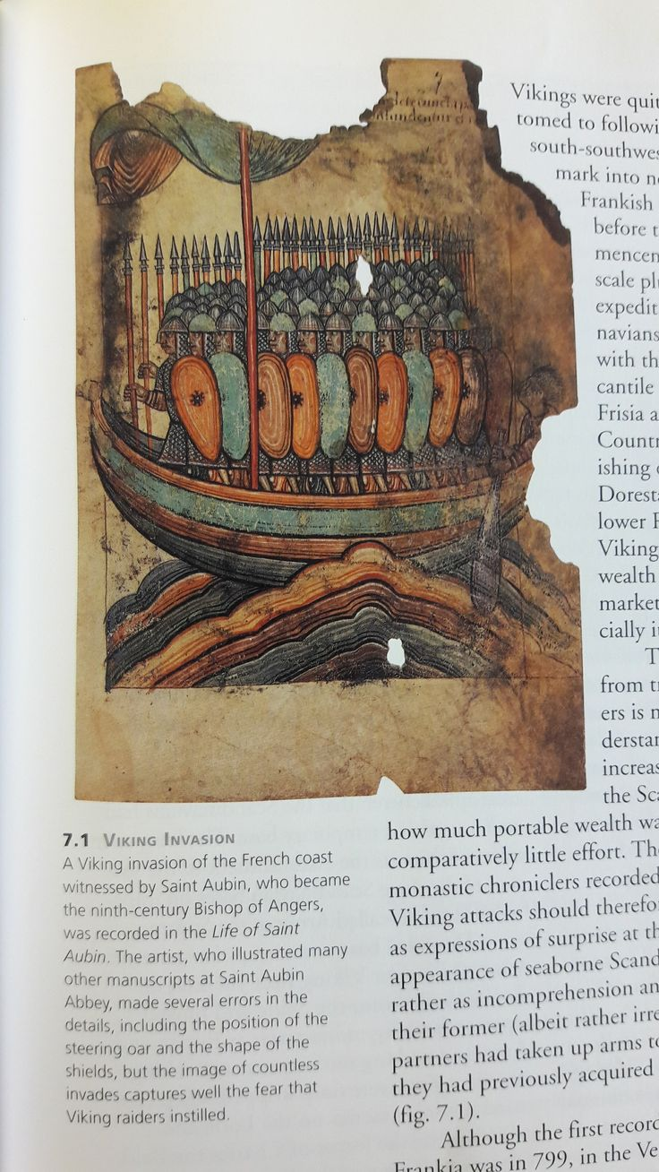 """Hope you don't have to pee during this Viking invasion...read the caption for more info! (image from """"Vikings: The North Atlantic Saga"""" By William W. Fitzhugh and Elisabeth I. Ward, pg 111)"""