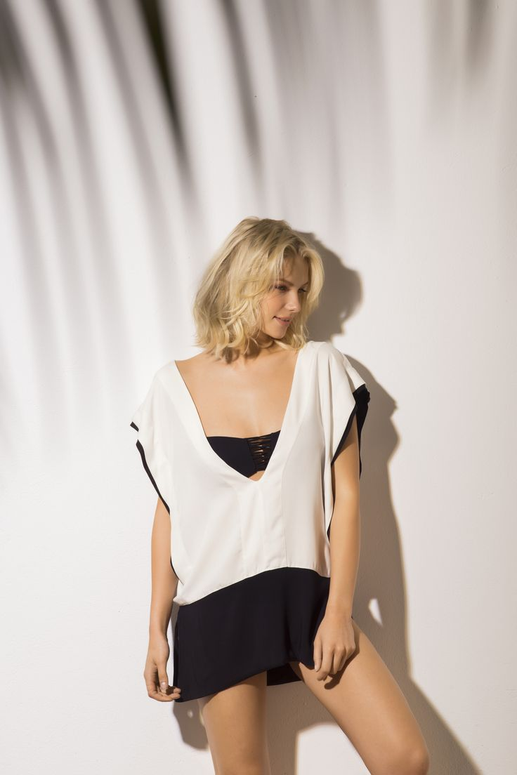 Color Block BW Open Side Cover Up / Shop Online at www.touche.com.co Touche Collection Swimwear