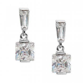 £12 Jon Richard Cubic Zirconia Square Drop Earring