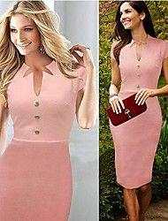 Tianhe as mulheres vestuário profissional v-pescoço cultivar a sv002767 vestido moralidade