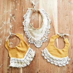 """Arrow and muse baby boho bibs. Our favorite kind of """"accessory,"""" besides bows of course."""