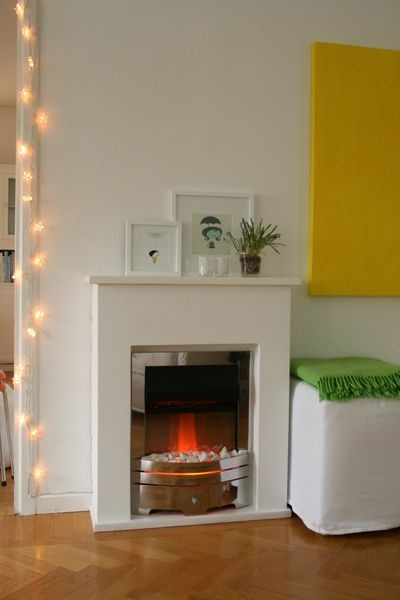 Homemade Fake Fireplace Made With MDF And A Heater Chez Larsson