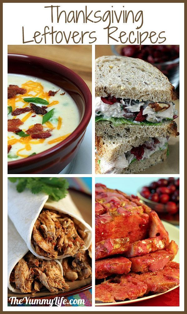 Thanksgiving Leftovers Recipes. Easy ideas for using up turkey, mashed potatoes & cranberry sauce. www.theyummylife.com/thanksgiving_leftover_recipes