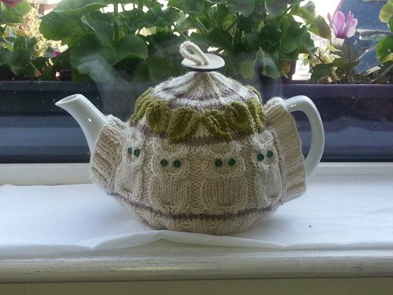 Unique Tea Cosy. Especially good for any Owl Lovers! I knit this in Rico Marine Aran. It is lovely and soft but washes very well so it is a good choice for a tea cosy. We hope you enjoy knitting this pattern.