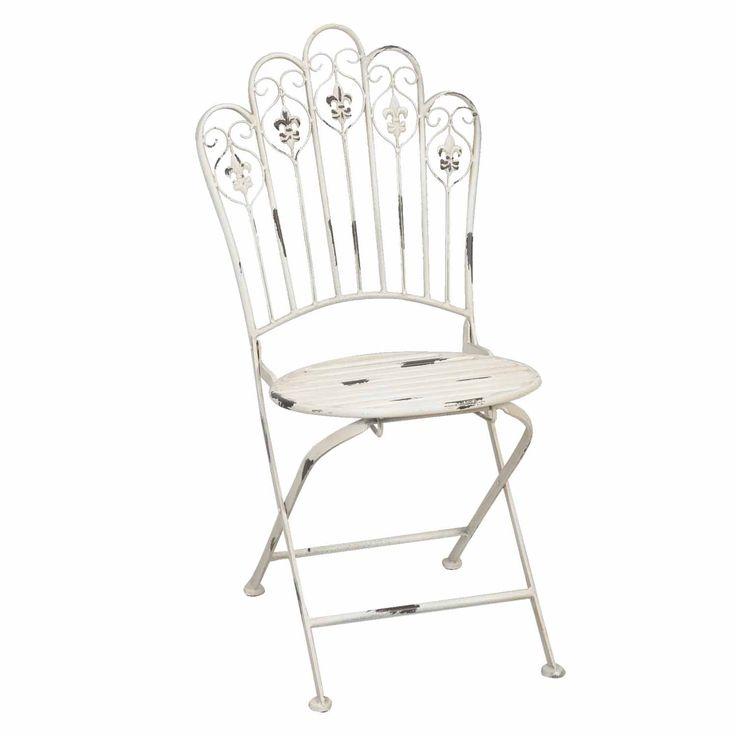 Záhradná stolička biela