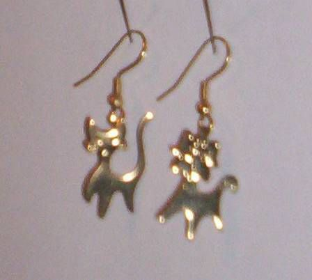 Cat and dog earrings