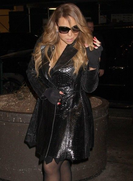 Mariah Carey Photos - Singer Mariah Carey, Nick Cannon and Jermaine Dupri drop by the MTV Studios in New York City, New York on February 12, 2014. - Mariah Carey Stops by the MTV Studios