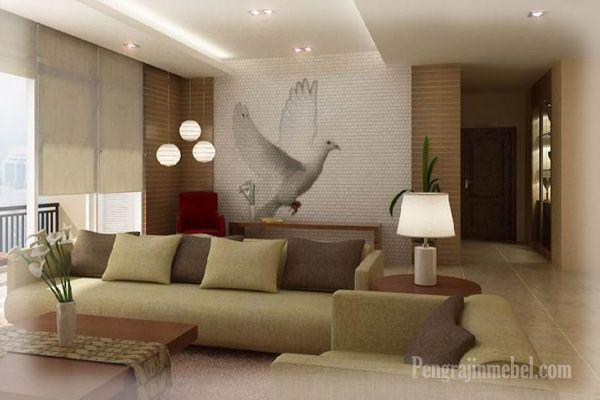 Dekorasi cantik pada ruang tamu modern
