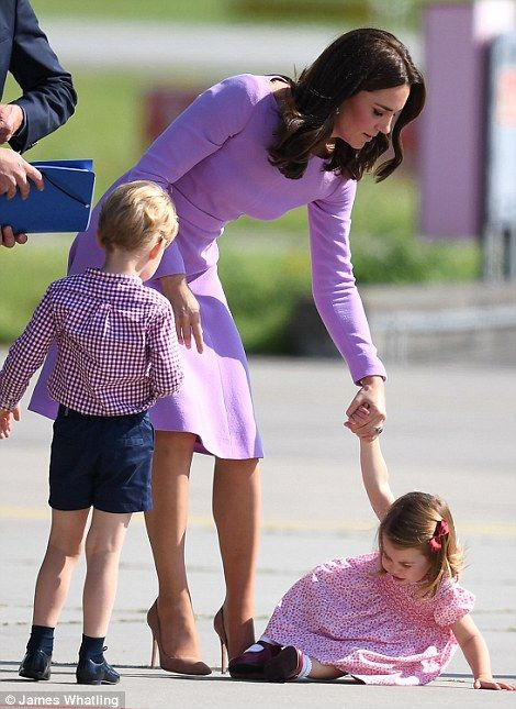 The Duchess gives Charlotte some gentle words of encouragement after she took a tumble