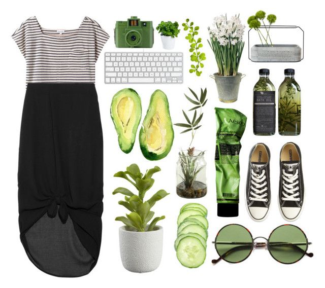 """Green"" by amy-marwedel ❤ liked on Polyvore featuring Steven Alan, Minimarket, Crate and Barrel, Aesop, Ralph Lauren, Converse, BULB, Spécimen Editions, Guide London and Royal VKB"