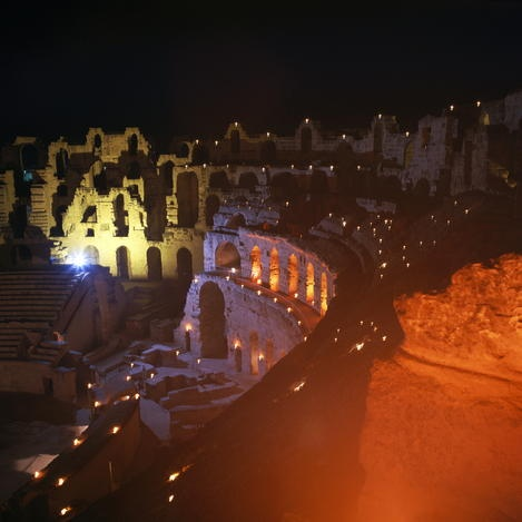 TUNISIA. Amphitheatre of El Jem, built by the Romans in the 3rd century, could hold 35,000.