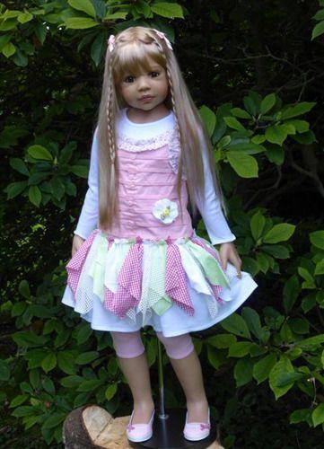 NWT RARE Masterpiece Dolls Candy Blonde GREEN Eyes Monika Levenig All Vinyl