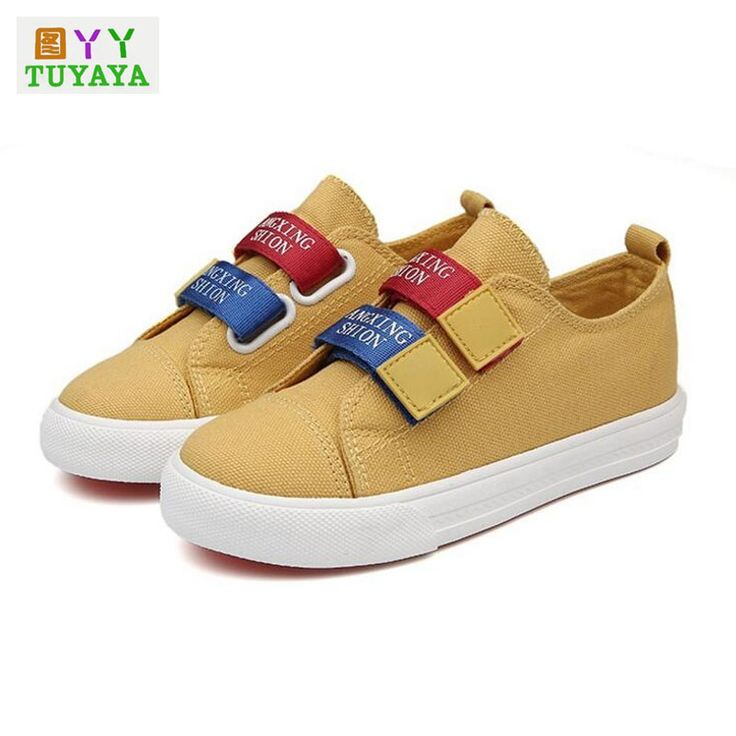 Kids School Shoes for Girl Children Canvas Shoes Boys Sneakers 2017 Spring Autumn Girls Sneakers Solid Fashion Children Trainers #Affiliate