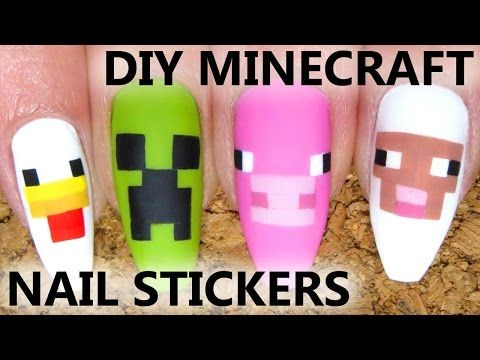 Minecraft Nails - YouTube