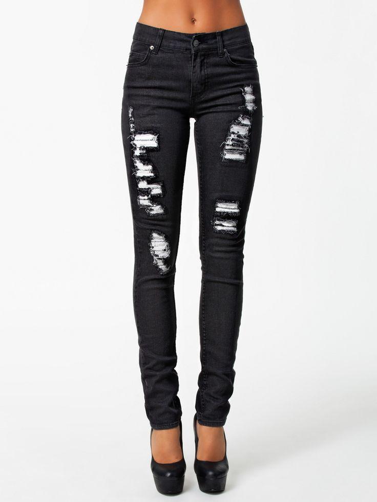 Tight Jlt Black - Cheap Monday - Zwart - Jeans - Kleding - Zij - Nelly.com