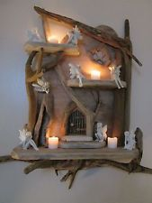 Magical Driftwood Fairy Door Shelves Solid Rustic Shabby Chic Unique Artwork
