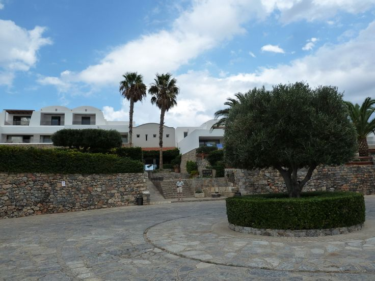 The entrance to Minos Palace hotel