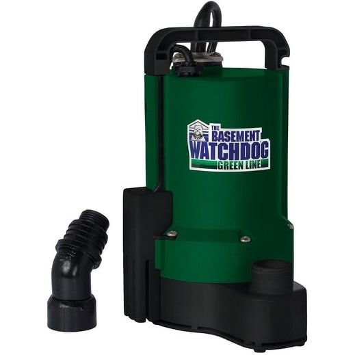 Basement Watchdog BWU033PAS Green Line Submersible Sump Pump, 1/3 HP