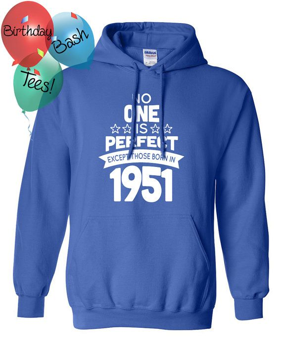 65 Year Old Birthday Hoodie No One is Perfect by BirthdayBashTees