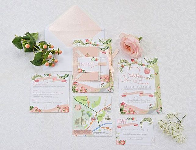 Свадебные тренды 2015 - пастельные цвета, свадебная полиграфия