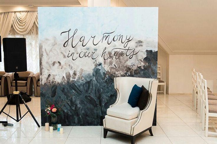 Blue wedding, Minty decor, свадьба, акварель, фотозона, serenity