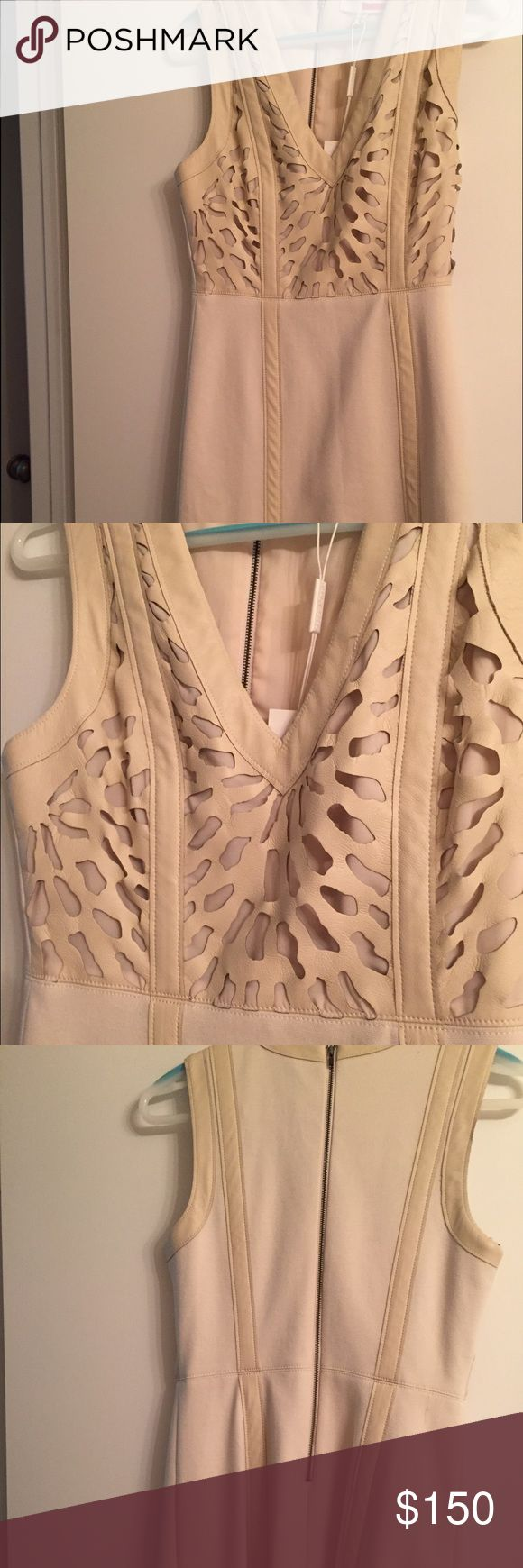 For 30 min. $100 for Tracy Reese Dress🎉 Tracy Reese Dress with Laser cutouts on bodice..  Sleeveless with v -neck.  Great for Dinners, weddings or parties.👗. Please use offer button and no trades are accepted.  Thank you🛍 Tracy Reese Dresses Asymmetrical
