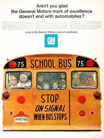 GM General Motors Schoolbus 1967 Stop