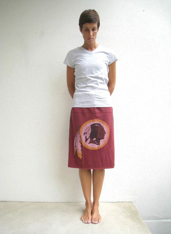 Washington Redskins T Shirt Skirt / Upcycled / Recycled / by ohzie
