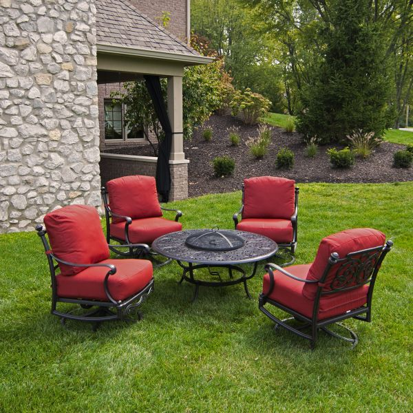 Relax In Style On Your Patio With The St. Augustine Fire Pit Set By Hanamint