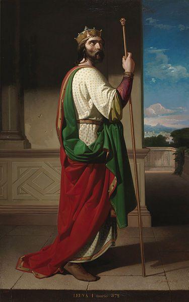 'Liuva I, Rey de los Visigodos' by Antonio Gisbert.