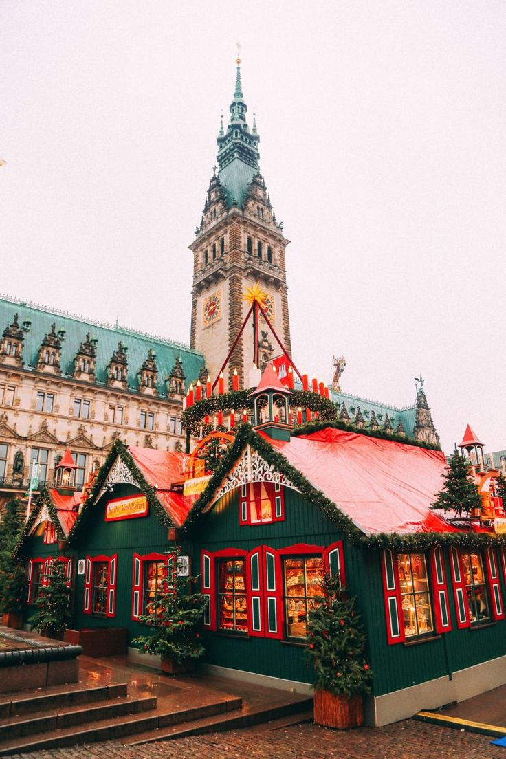Christmas Market Fun In Hamburg, Germany