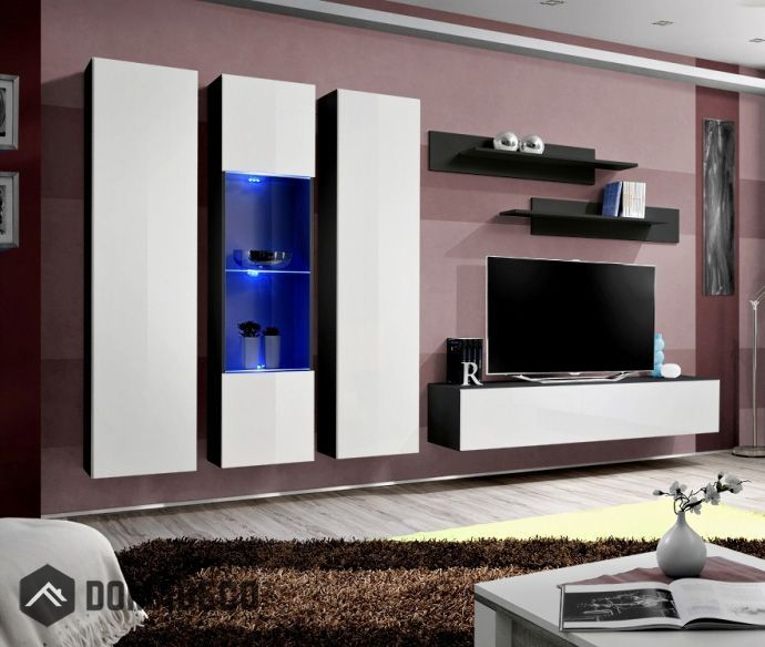 Idea C3 Wall Mounted Tv Cabinet For 70 Inch Tv Modern Tv Wall Units Modern Entertainment Center Modern Wall Units