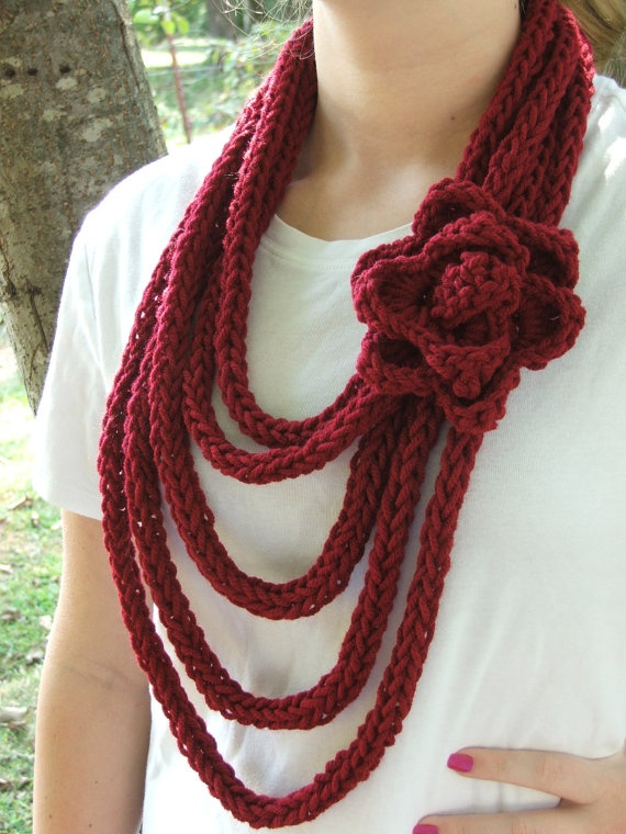 ICord Scarf Necklace by BlueChicTrends on Etsy, $19.99