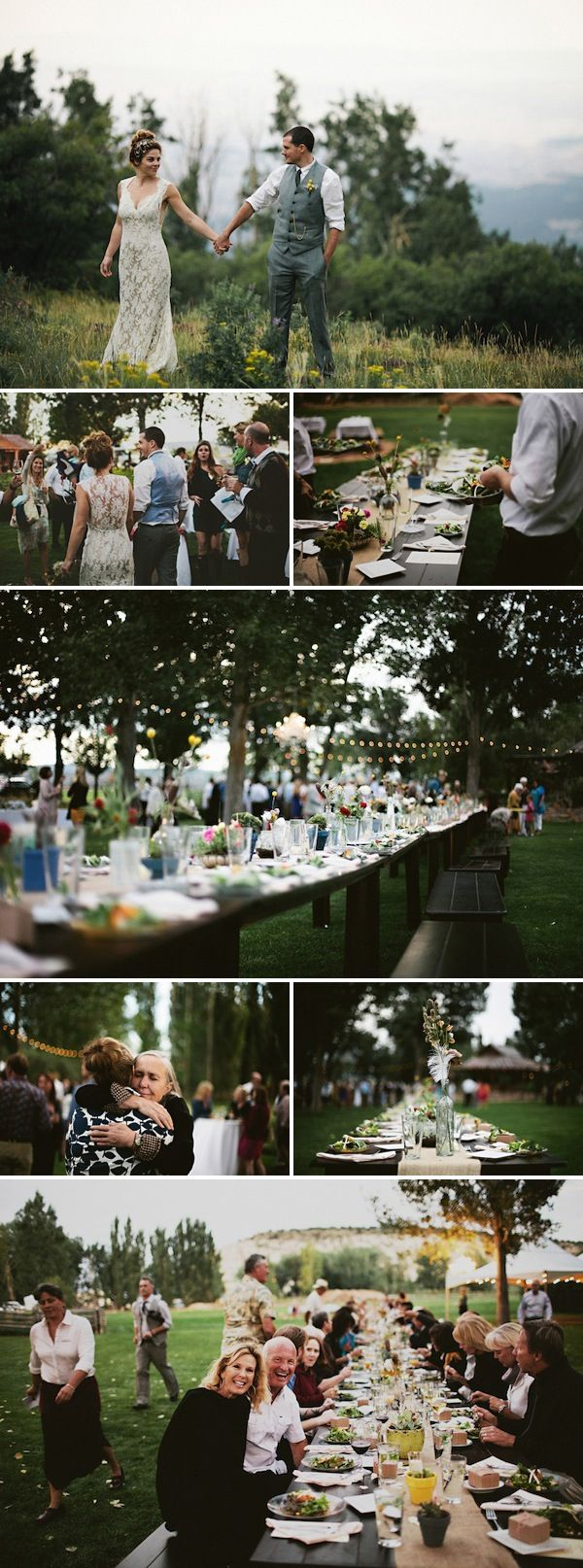 I love how casual and intimate this wedding is. It looks like everyone is having so much fun -- just celebrating. It would be a dream come true if i can have this for a wedding.