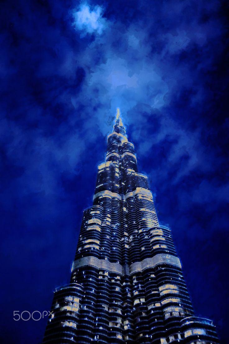 Burj Khlifa - Artistic representation of Burj Khalifa, Dubai.